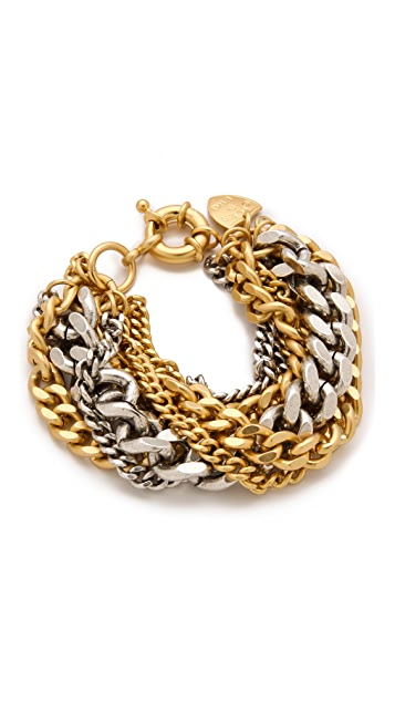 Giles & Brother Large Multi Chain Bracelet