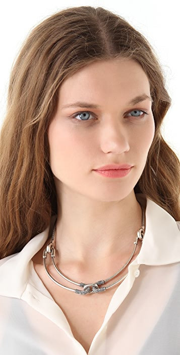 Giles & Brother Cortina Necklace with Pave