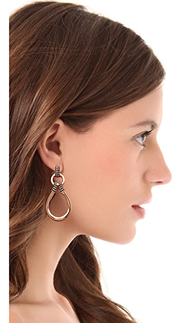 Giles & Brother Pave Loop Link Earrings