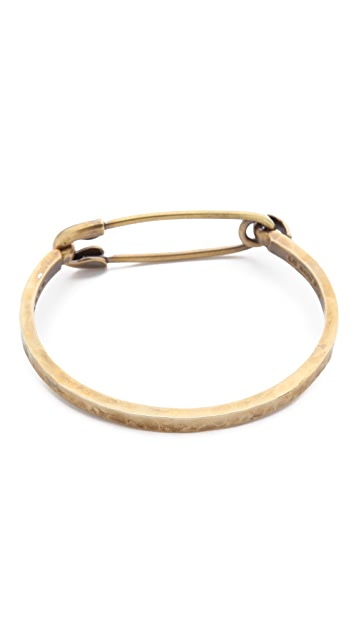 Giles & Brother Safety Pin ID Cuff