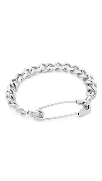 Giles & Brother Safety Pin ID Bracelet