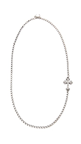 Giles & Brother Embedded Cross Necklace