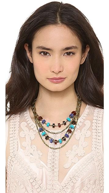 Giles & Brother Multi Color Stone Bundle Necklace
