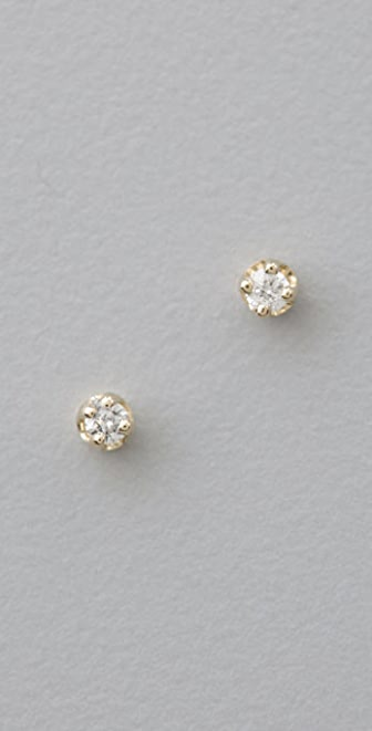 ginette_ny Mini Diamond Puce Earrings