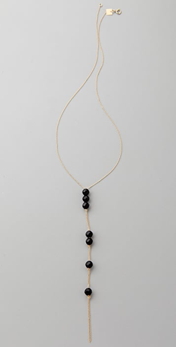 ginette_ny Cadiz Seven Beads Onyx Necklace