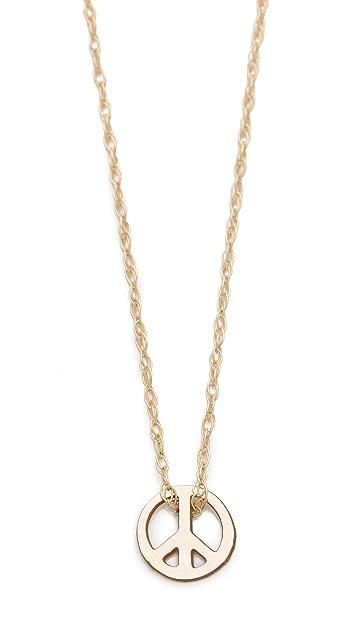 ginette_ny Mini Peace Necklace