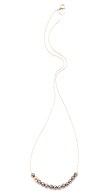 ginette_ny Fool's Gold Short Boulier Necklace