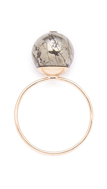 ginette_ny Fool's Gold Medium Bead Ring