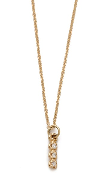 ginette_ny Vertical Diamond Necklace