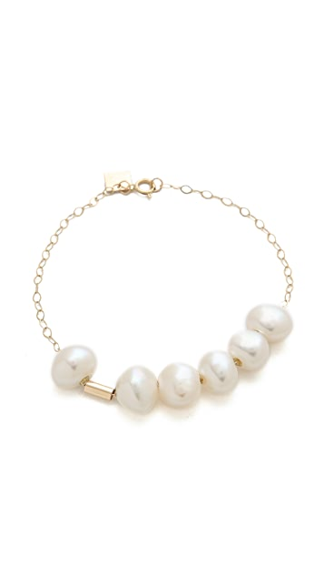 ginette_ny Tube Bead Bracelet with Cultured Freshwater Pearls