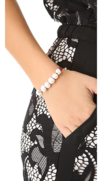 ginette_ny Cord Bracelet with Cultured Freshwater Pearls