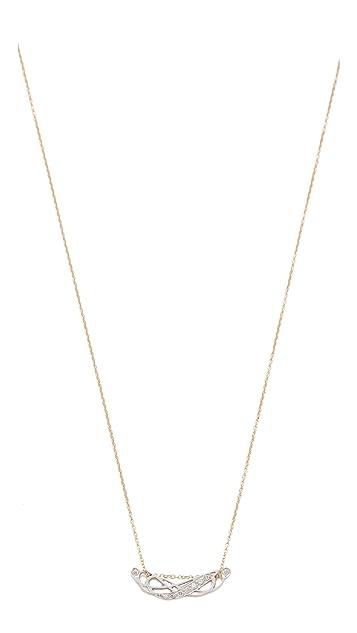 ginette_ny Tiny Diamond Volute Necklace