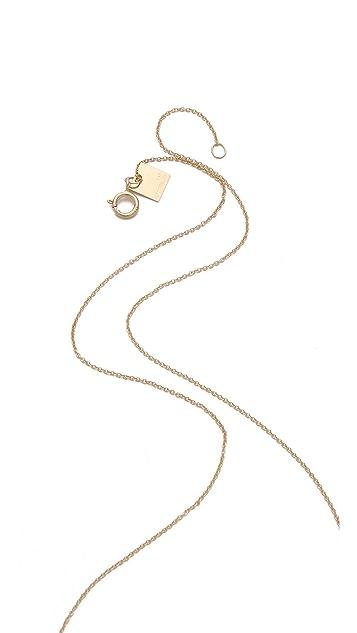 ginette_ny Mini Diamond Lotus Necklace