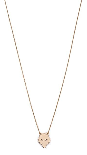 ginette_ny Mini Wolf on Chain Necklace