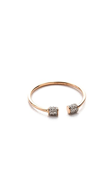 ginette_ny Single Diamond Choker RIng