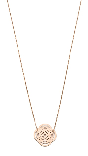 ginette_ny 18k Rose Gold Mini Purity Necklace