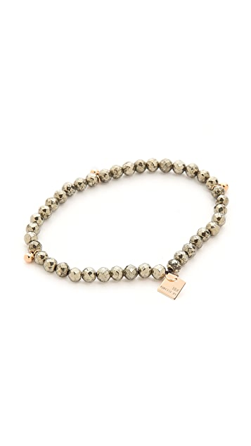 ginette_ny Fool's Gold Faceted Bracelet