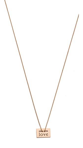 ginette_ny Mini Love Plate Necklace