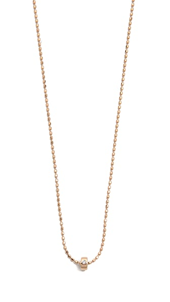 ginette_ny Mini Tube & Diamond Sautoir Necklace
