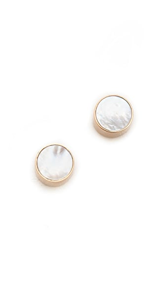 ginette_ny Cultured Freshwater Pearl Cabochon Stud Earrings