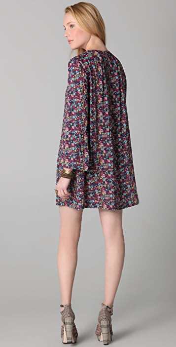Girl. by Band of Outsiders Trumpet Sleeve Shift Dress