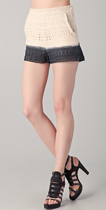 Girl. by Band of Outsiders Cleo Lace Shorts