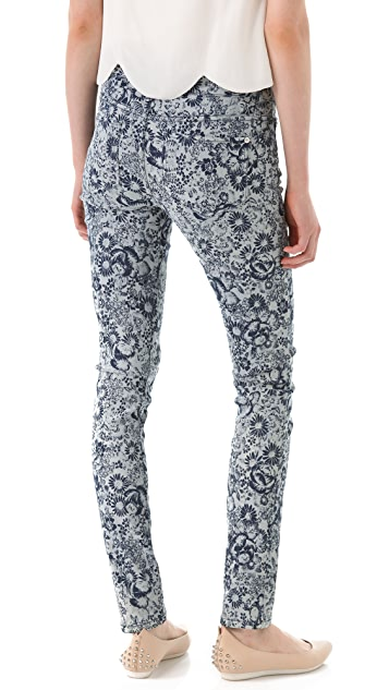 Girl. by Band of Outsiders 5 Pocket Printed Jeans