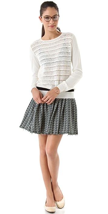 Girl. by Band of Outsiders Crochet Crewneck Sweater