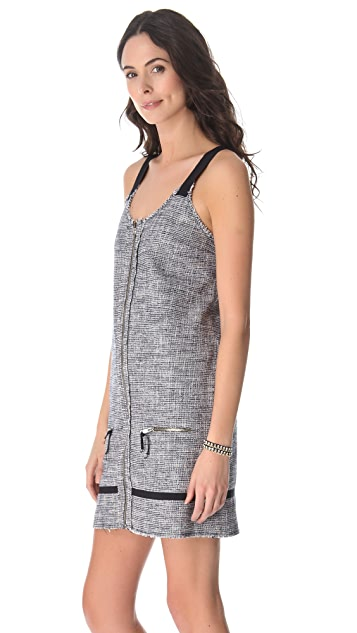 Girl. by Band of Outsiders Tweed Overall Dress