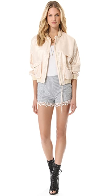 Girl. by Band of Outsiders Flight Bomber Jacket