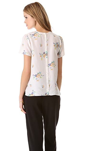 Girl. by Band of Outsiders Short Sleeve Blouse