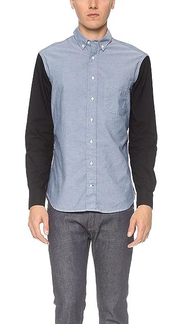 Gitman Vintage Contrast Sleeves Chambray Shirt