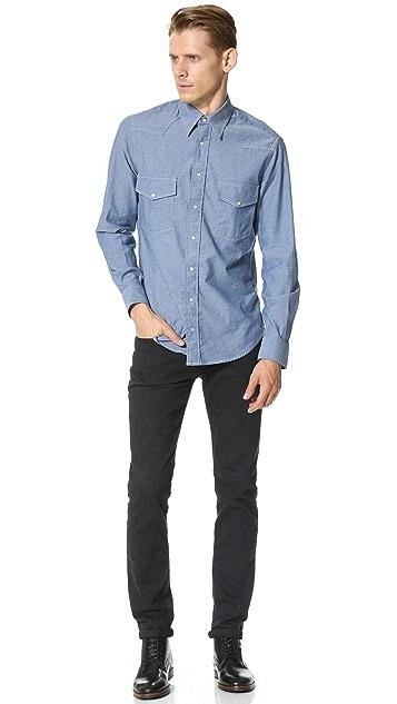 Gitman Vintage Chambray Western Shirt
