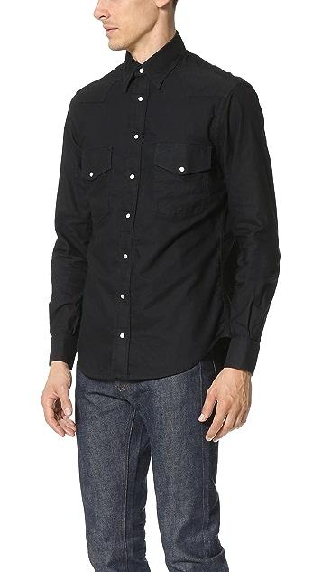 Gitman Vintage Overdye Oxford Western Shirt