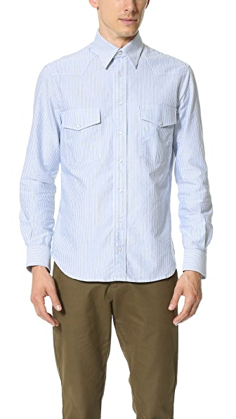 Gitman Vintage Striped Oxford Western Shirt