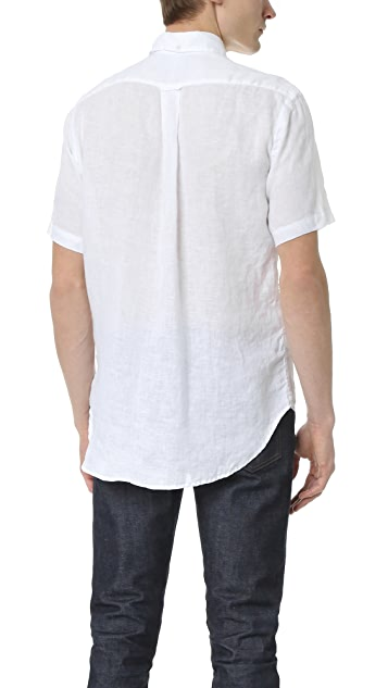 Gitman Vintage Linen Short Sleeve Button Down Shirt