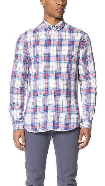 Gitman Vintage Archive Linen Plaid Button Down Shirt