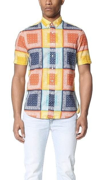 Gitman Vintage Homage to Paisley Short Sleeve Button Down Shirt