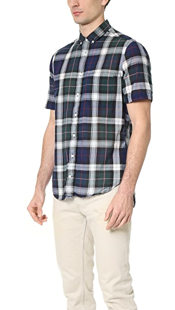 Gitman Vintage Multicheck Japanese Voile Short Sleeve Shirt