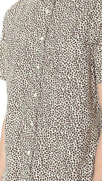 Gitman Vintage Leopard Short Sleeve Shirt