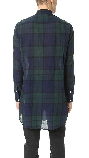 Gitman Vintage Blackwatch Japanese Voile Long Shirt