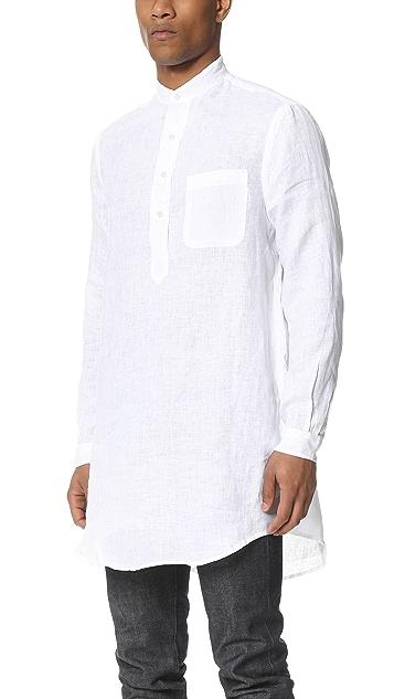 Gitman Vintage Linen Long Shirt