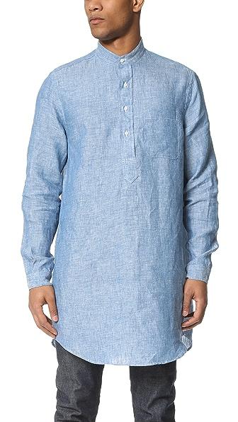 Gitman Vintage Linen Chambray Long Shirt