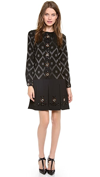 Giulietta Mosiaco Jacquard Dress