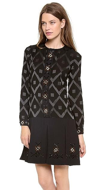 Giulietta Mosiaco Jacquard Dress