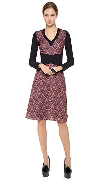 Giulietta Venere Dress in Print Jacquard