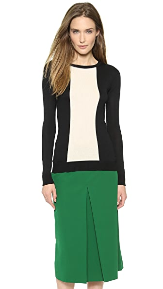 Giulietta Center Stripe Silk Pullover