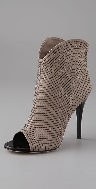 Giuseppe Zanotti Stitched Peep Toe Booties