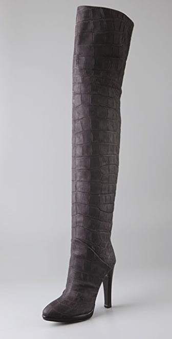 Giuseppe Zanotti Embossed Thigh High Boots