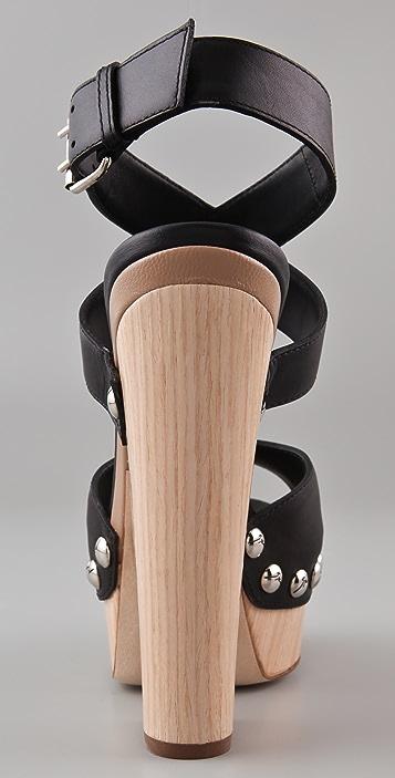 Giuseppe Zanotti Ankle Stap Cutout Wedge Sandals